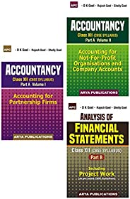 Class XII - Accountancy Vol 1 & 2 + Analysis of Financial Statements (Part B) (Set of 3 bo