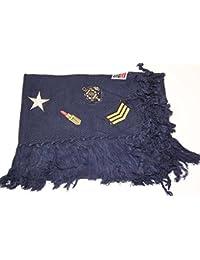 Schal Tuch mit Patches Glitzer Patch Stern Fransen Glitzersteine groß Baumwolle Schal Halstuch Oversized