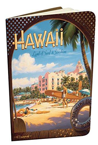 Surf Vintage Hawaii-art (Pacifica Island Art Hawaiianische Mini-Notizhefte im Vintage-Stil - 2-er Set - Hawaii, Land of Surf & Sunshine von Kerne Erickson)