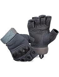 Blac ksnake® Tactical Paintball 3ride Guantes con tobilleras y sistema de ventilación, gris