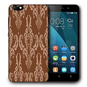 Snoogg Brown Pattern Layer Designer Protective Phone Back Case Cover For Huawei Honor 4X