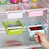 Inshine Set Of 2 Fridge Freezer Space Saver Organizer Slide Storage Rack Shelf Drawer,Multi