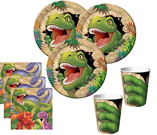 48 Teile Dinosaurier Party Set für 16 Kinder