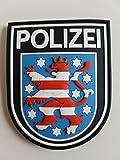 ATG Ärmelabzeichen Polizei Thüringen 3 D Rubber Patch (Farbig)