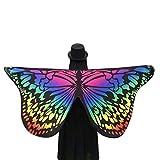 Ularma Schöne Weiche Schmetterlingsflügel Schal 145*65CM Fee Kostümzubehör (Bunt2)