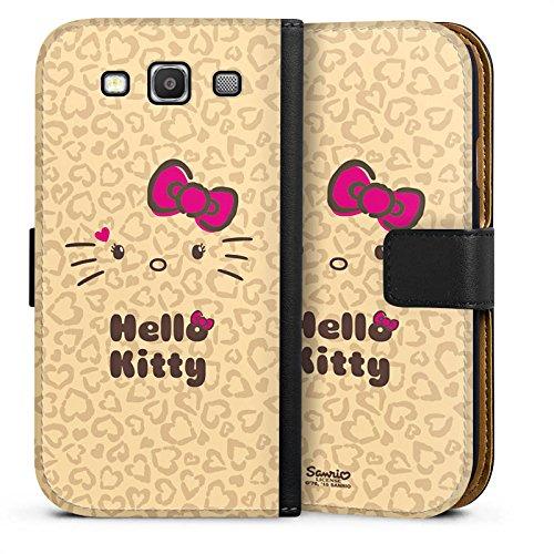 DeinDesign Tasche kompatibel mit Samsung Galaxy S3 Neo Leder Flip Case Ledertasche Hello Kitty Merchandise Fanartikel Leo