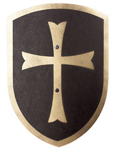 (Spielzeugmanufaktur VAH 216 Holzschild, Kreuz (schwarz/Gold), Klein (Breite 27cm / Länge 37cm))