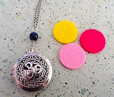 pendentif aromatherapie ohm lapis lazuli