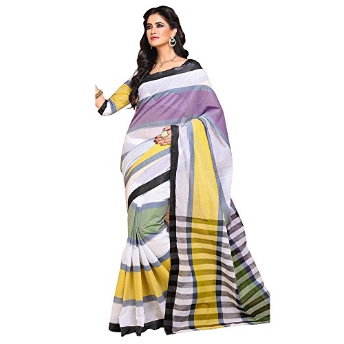 Craftsvilla Women's Kota cotton textured Multicolor traditional Saree with Blouse piece