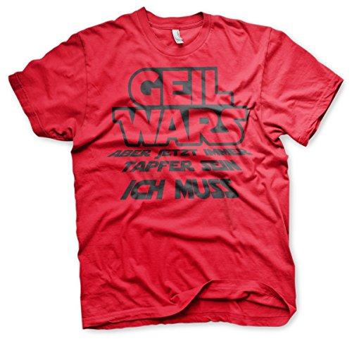 Geil Wars Junggesellenabschied Shirt Motiv 1 Rot
