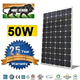 #3: CLARION Electroid India Solar Panel 50 Watts High Efficiency