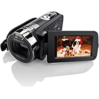 """Camera Camcorders, Eamplest 1080P 24MP 16X Digital Zoom Video Camera with 2.7"""" LCD and 270 Degree Rotation Screen Fill-in Infrared LED Light, Face Detection and Camera Bag(HDV-312P)"""