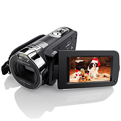 Camera Camcorders, Eamplest 1080P 24MP 16X Digital Zoom Video Camera with 2.7