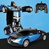 SSBH Geste Induction Déformation Télécommande Voiture King Kong Robot Charge Électrique Mouvement ABS Profession Matériel 2.4 Ghz RC Voiture Jouet Voiture Garçon Cadeau for Enfants 3+ (Color : Bleu)