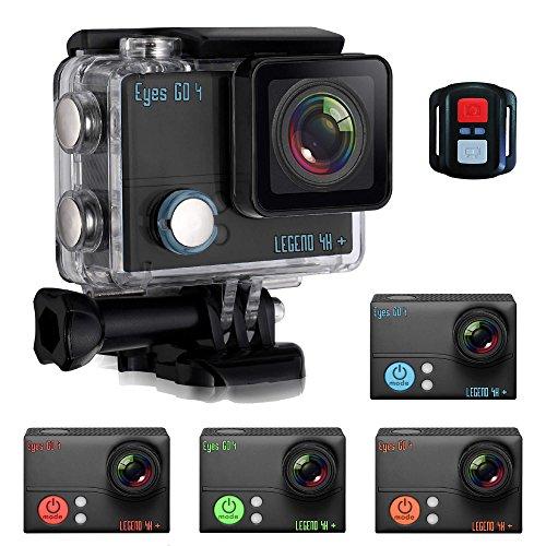 Eyes GO 4 LEGEND 4K + - + 32 accessoires - (Camera 4K de 30 fps à 240 fps) 20 MP - Télécommande connecté - Edition DARKLIGHT - Camera Sport - Boîtier étanche 45 mètres - LCD 2''