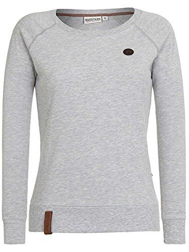 Naketano Female Sweatshirt Krokettenhorst, Grey Melange, Gr. L