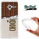 Becool® Fun - Funda Gel Flexible para Vodafone Smart Speed 6 .Carcasa TPU fabricada con la mejor Silicona, protege y se adapta a la perfección a tu Smartphone y con nuestro diseño exclusivo Tableta de chocolate