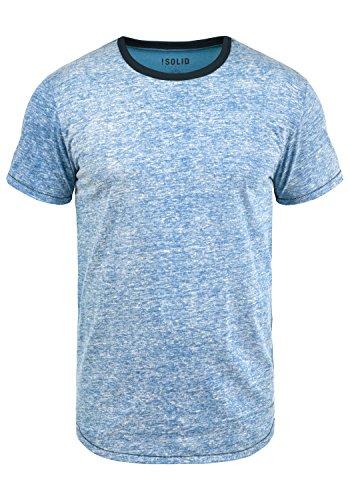 !Solid Tellion Herren T-Shirt Kurzarm Shirt Rundhalsausschnitt Aus Hochwertiger Baumwollmischung Meliert, Größe:M, Farbe:Federal Blue (1414) (T-shirt Hochwertige Neue)