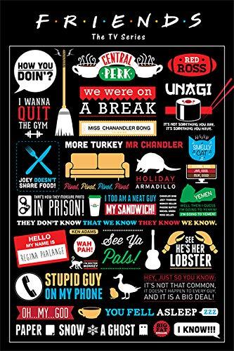 Friends Grupo Erik Editores Poster (Infographic)