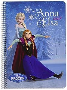 Disney Frozen- Libreta Folio 80 Hojas Tapas duras, Color Azul (SAFTA 511615065)