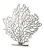 GILDE Elegance Skulptur - Dekoobjekt aus Aluminium in Silber H 51 cm