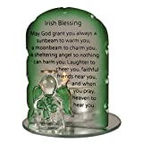 Best Blessings - Glass Candleholder with Angel Holding a Shamrock Review