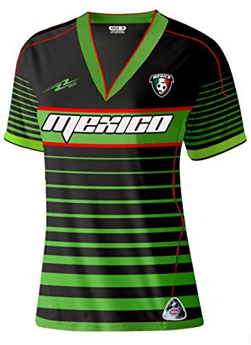 5ab5217cc89b7 México Slim Mujer Soccer Jersey nuevo estilo Diseño exclusivo