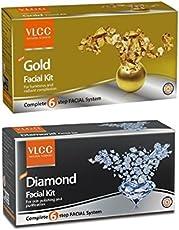 VLCC Combo Of Gold Facial Kit - 6O Grams And Diamond Facial Kit 60 Grams