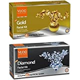 VLCC Combo Of Gold Facial Kit - 6O Grams And Diamond Facial Kit 60 Grams