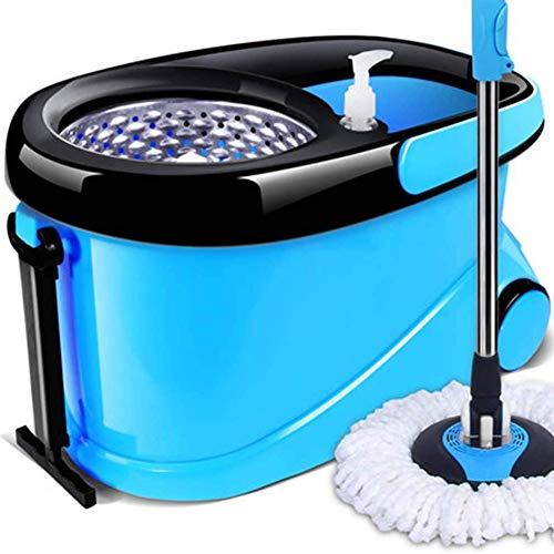 Edelstahl Magic rotierend mop Mikrofasern Moppkopf Haushalt Lazy automatischer Trocknungs Mopp für Parkett Reinigungs