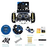 Designed for The BBC Micro:bit, AlphaBot2 Robot Smart Car Kit, Includes Micro:bit Control Board, Achieves Line Tracking, Obstacle Avoiding, Ultrasonic Ranging, Bluetooth/2.4G Remote Control, etc.