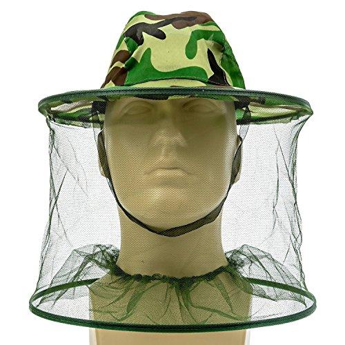 Jspoir Melodiz Camouflage Apiculture Apiculteur Anti-moustiques Pêche et Camping Moustiquaire Chapeau