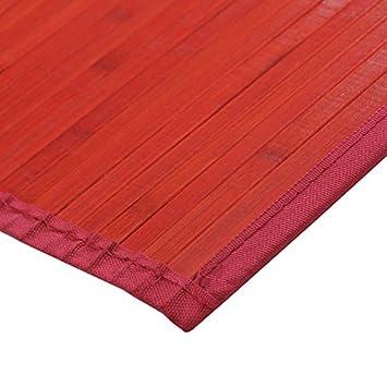 MonBeauTapis 165302 Tapis Bambou Rouge 230 x 160 cm: Amazon.fr ...