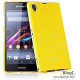 TheBlingZ.® Protective Funda Silicona Gel TPU Para Sony Xperia Z1 Compact / Z1 Mini Carcasa Cover Case - Amarillo