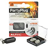 Alpine PartyPlug - Earplugs to enjoy Music, Concerts or Festivals, Free Miniboxx, Transparent