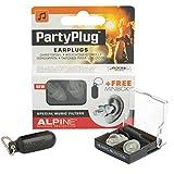 Alpine PartyPlug - Gehörschutz für Musik, Konzerte & Festival, Gratis Miniboxx, transparen