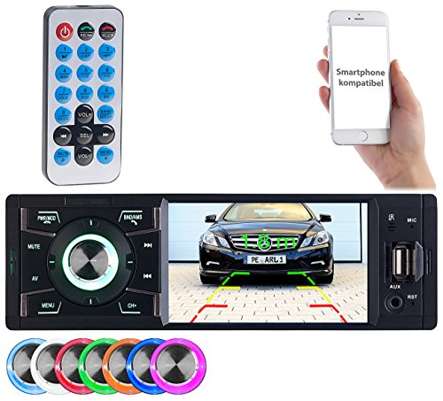 Creasono Autoradio mit USB: MP3-Autoradio mit TFT-Farbdisplay, Bluetooth, Freisprecher, 4x 45 Watt (Autoradio mit Monitor)