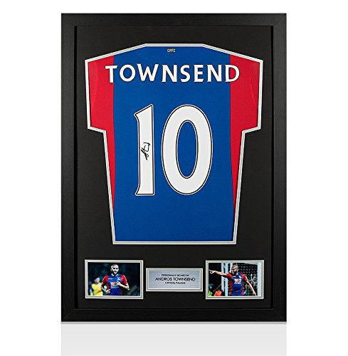 Framed-Andros-Townsend-Signed-Crystal-Palace-Shirt-20162017-Number-10