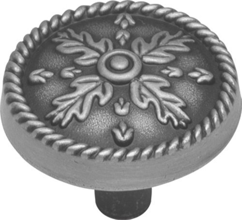 Hickory Hardware P7331-SPA 1-1/4-Inch Chartres Cabinet Knob, Satin Pewter Antique by Hickory Hardware
