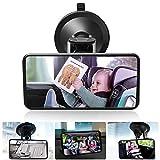 DAMIGRAM Baby Bambino Vista posteriore Specchio, Specchietto Regolabile Neonato per Sicurezza Poggiatesta Posteriore Specchio Auto per Auto Sedile Posteriore