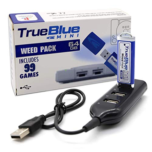 The perseids True Blue Mini Weed Pack USB-Sticks 64GB Spiele Speicherstick mit 4-Port Hub für Playstation Classic - 99 Spiele (Weed Pack)