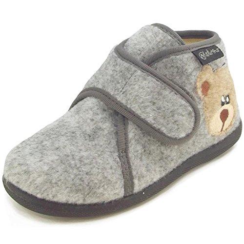 Naturino, Pantofole bambini, grigio (Grigio (Grigio)), 20
