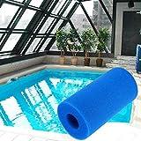 CUEYU Schaumschwamm für Filterpumpen,Wiederverwendbare/Waschbare Schwimmbad Filter Schaum Patrone Schwamm,200 x 100 mm (1PCS)