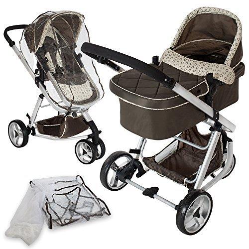 TecTake 401070 Pram/Carriage stroller Single Marrone passeggino
