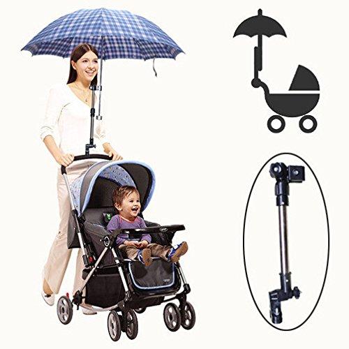 Baby Kinderwagen Stand Regenschirm verstellbar Umbrella Stand Support-Schirmständer für Fahrrad/Rollstuhl/Rollator/Kinderwagen/Fischerei/Golftrolley