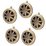 Sharplace 5 Stk. Foto Amulett Zum öffnen Rund Förmig Foto Einsetzbar Damen Herren DIY Anhänger - Antike Bronze