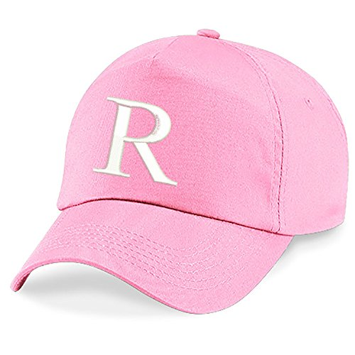 4sold Unisex Bindemütze Babymütze Jungen Mädchen Mütze Baseball Cap Rosa Hut Kinder Kappe Alphabet A-Z (R)