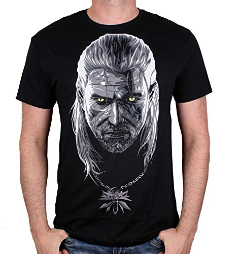 Cotton Division Camiseta The Witcher 3 - Geralt de RIV Negro L