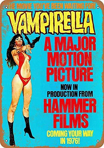 Wise Degree Metal Poster 1976 Vampirella Movie Metall Poster Wand Küche Kunst Cafe Garage Shop Bar Dekoration
