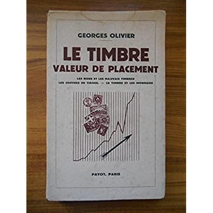 Timbre valeur de placement 1941 / Olivier, Georges / Réf36313